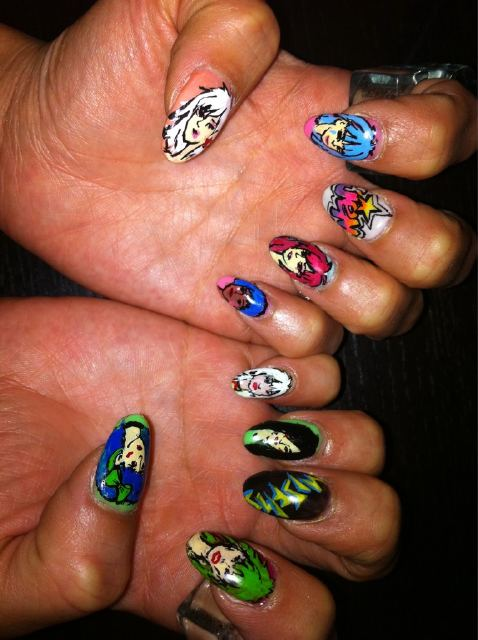 Fly Beauty Nail Art Jem And The Holograms Vs The Misfits The Fly
