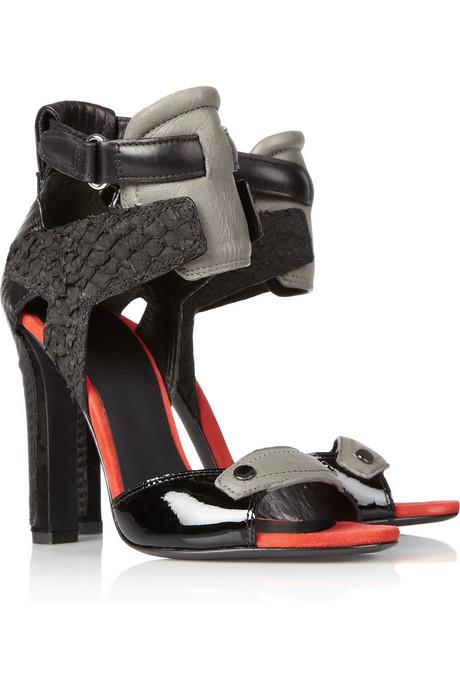 Jimmy Choo Denton Neoprene Scuba Peep Toe Sandals The