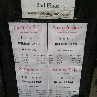 The Deets to the Theory & Helmut Lang Sample Sale | The Fly Girl Guide