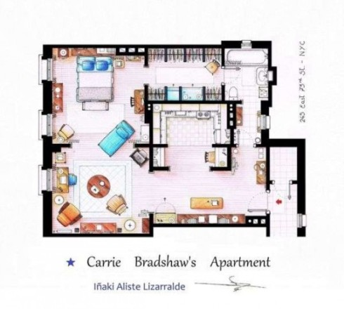 CarrieBradshawFloorplan
