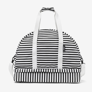 Large Weekender in B&W Stripe