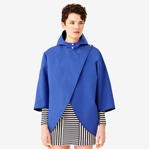 Reversible Cape in Blue/Black